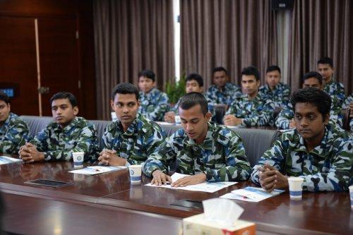 江苏海事职业技术学院举行首批孟加拉籍学员培训班开班仪式